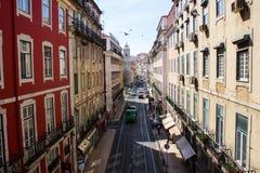 Lisbon, Portugal: São Paulo (Saint Paul) street, downtown Royalty Free Stock Photography