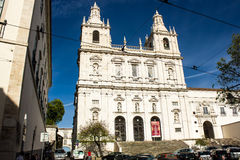Lisbon, Portugal: São Vicente (St. Vincent) church, Alfama quarter. One of the most impressive churches in Lisbon, Portugal. It is an example of Roman mannerism Stock Images