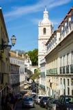 Lisbon, Portugal: Saint Vincent parish and Pantheon tower Stock Photography