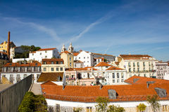 Lisbon, Portugal:Saint Vincent quarter watched from Saint Luzia Stock Images