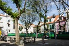 Lisbon, Portugal: Santa Marinha square, Alfama Royalty Free Stock Image
