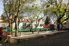 Lisbon, Portugal: Santa Marinha square, Alfama Stock Photography