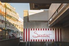 Lisbon, Portugal - 12/28/18: Santini Ice cream brand logo royalty free stock images