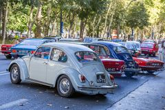 Free Lisbon, Portugal - September 24, 2017: Reto Car Show On Street O Stock Photography - 100749172