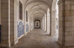 Cloister of Mosteiro de Sao Vicente de Fora Monastery. Lisbon, Portugal - September 9, 2013: Cloister of Mosteiro de Sao Vicente de Fora Monastery in 17th Royalty Free Stock Photography