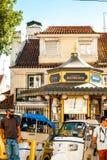 Lisbon, Portugal - Septmember 19, 2016: Streets around Viewpoint de Santa Luzia. Royalty Free Stock Images
