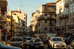 Lisbon, Portugal - Septmember 19, 2016: Traffic in neighbourhood Graca Royalty Free Stock Photo