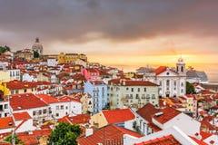 Lisbon, Portugal Skyline Stock Image