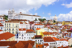 Lisbon, Portugal Skyline at Alfama royalty free stock images