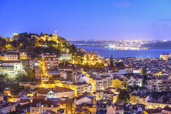 Lisbon, Portugal Skyline and Castle Royalty Free Stock Image