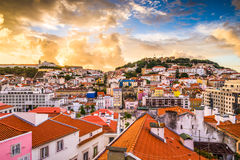 Lisbon, Portugal skyline Royalty Free Stock Photography