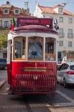 lisbon portugal spårvagn Fotografering för Bildbyråer