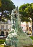 Lisbon, Portugal: statue of the famous writer Eça de Queiroz Stock Photos