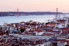 lisbon portugal strand arkivfoton