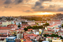 Lisbon Portugal Sunset Stock Photography