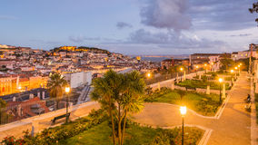 Lisbon, Portugal. Sunset View from Old Town of Lisbon, Portugal Stock Image