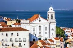 Lisbon, Portugal. Tagus River Panorama Stock Image