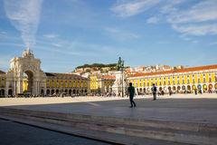 Lisbon, Portugal: Terreiro do Paço or Commerce square Royalty Free Stock Photography