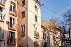 Lisbon, Portugal. Traditional building in Alfama district of Lisbon, Portugal Stock Image