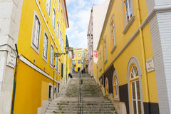Lisbon, Portugal: Travessa da Arrochela in the old city. Travessa (lane) da Arrochela is located in S. Bento area in the old city on Lisbon, closest to the Royalty Free Stock Images