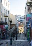Lisbon, Portugal: Travessa do Lavra in Santana Hill Stock Photos
