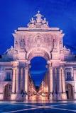 Lisbon, Portugal: the Triumphal Rua Augusta Arch, Arco Triunfal da Rua Augusta Royalty Free Stock Photo