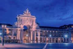 Lisbon, Portugal: the Triumphal Rua Augusta Arch, Arco Triunfal da Rua Augusta Stock Image