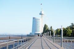 LISBON, PORTUGAL, Vasco da Gama tower Royalty Free Stock Images