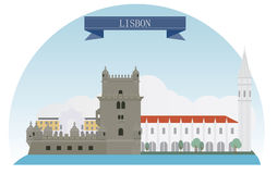 Lisbon. Portugal. Vector for you design Royalty Free Stock Photography