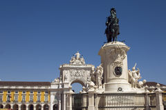 Lisbon - Portugal. View of the Praça do Comércio in Lisbon Royalty Free Stock Photography