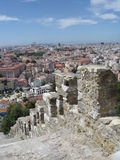 lisbon portugal view from the st georges castle Royalty Free Stock Photo