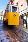 Lisbon, Portugal, 2016 0 23 - yellow tram - Ascensor da Gloria s Stock Photo