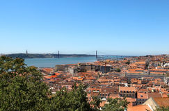 Lisbon, Portugalia, 25th Kwiecień Most Fotografia Stock