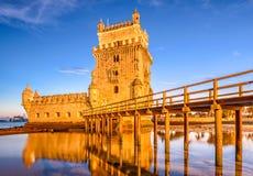 Lisbon Portugalia Belem wierza Zdjęcia Royalty Free