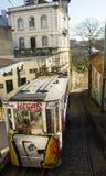 Lisbon, Portugalia: Funicular Lavra Fotografia Royalty Free