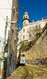 Lisbon, Portugalia: Funicular Lavra Zdjęcia Royalty Free