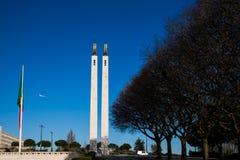 LISBON PORTUGALIA, Luty, - 02, 2011: Park's imię dać na cześć Edward VII Zjednoczone Królestwo Fotografia Stock