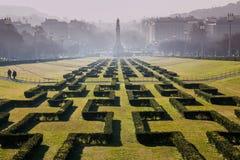 LISBON PORTUGALIA, Luty, - 02, 2011: Park's imię dać na cześć Edward VII Zjednoczone Królestwo Zdjęcie Royalty Free