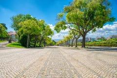 LISBON, PORTUGALIA, Maj 01, 2018 - Sloped sceniczny parkowy uwypuklać Zdjęcie Stock