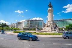 LISBON, PORTUGALIA, Maj 01, 2018 - Zabytek markiz P Obraz Royalty Free
