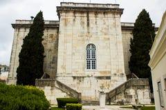 Lisbon, Portugalia: przegląda na zewnątrz Mãe d'à  gua (wody matka) Zdjęcie Stock