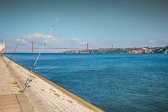 Lisbon, Portugalia przy Belem wierza na Tagus rzece Obraz Stock