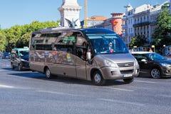 LISBON PORTUGALIA, WRZESIEŃ, - 10 2017 autobusowa wycieczka turysyczna w Lisbon, Po Zdjęcie Royalty Free