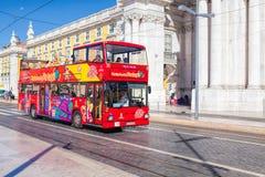 LISBON PORTUGALIA, WRZESIEŃ, - 10 2017 autobusowa wycieczka turysyczna w Lisbon, Po Zdjęcia Royalty Free