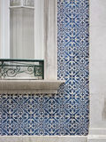 Lisbon Portuguese Blue Tiles and Window Stock Image