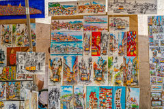 Lisbon Postal Cards. In a Flee Market, Portugal Royalty Free Stock Photo
