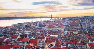 Lisbon przegląd Portugalia Obraz Stock