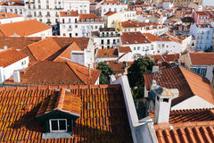 Lisbon red roofs cityscape Stock Photo
