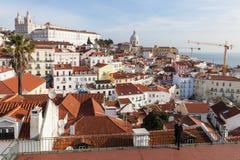 Lisbon red roofs skyline Stock Photo