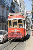 Lisbon red tram Stock Photography